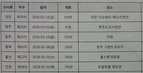 2월23일 대전시의사회 필두 정기총회 시즌